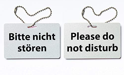 KaiserstuhlCard Türschild Bitte Nicht stören Please do not Disturb Schild Anhänger Wendeschild
