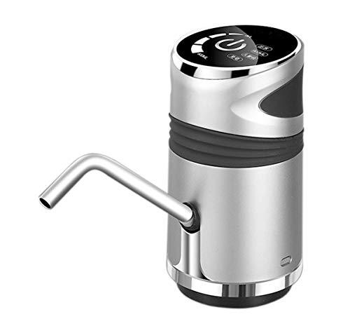 Water dispenser pompsysteem Smart touch screen pomp USB oplaadbare waterfles pomp Geschikt for water in flessen en glazen fles water dispenser (Gold) hsvbkwm (Color : Silver)