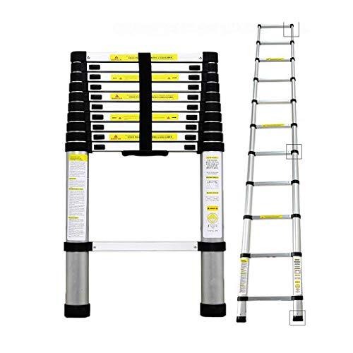Todeco - Echelle Telescopique, Échelle Pliable - Charge maximale: 150 kg - Matériau: Alliage en aluminium - 3,2 mètre(s), EN...