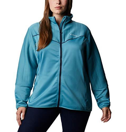 Columbia Women's Roffe Ridge II Full Zip, Canyon Blue/Dark Nocturnal, S