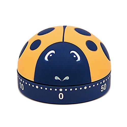 LdawyDE Temporizador de Cocina Mecánico Cronometro Cocina Cute Ladybug Reloj Temporizador Cocina Alarma Giratoria Mecánica Temporizador de Cuenta Regresiva de 60 Minutos para Cocinar