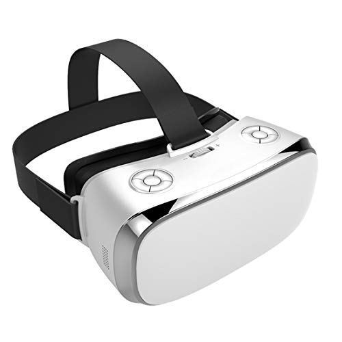CYCPACK Fone de ouvido VR, óculos de realidade virtual 3D sem fio, óculos Bluetooth para jogos 4K HD VR Smart Glasses para IMAX Filmes Vídeo Games Resolução 2560 1440, branco