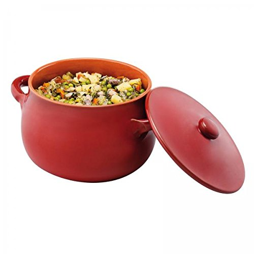 Paderno World Cuisine 48401R18 Stew Pot with Lid, One Size, Red