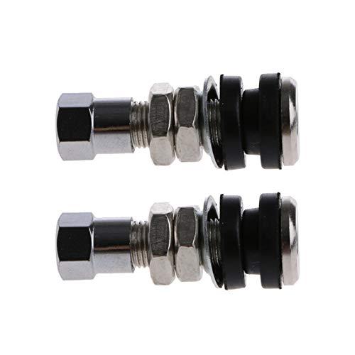 ooege OOE 1 par de válvulas de Rueda de neumáticos sin Tubo Sin Tubo Stem Motorcycle Car (Size : A)