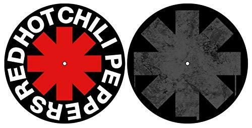 RED HOT CHILI PEPPERS DJ SLIPMAT FILZMATTE Classic Logo Asterisk - 2er Set