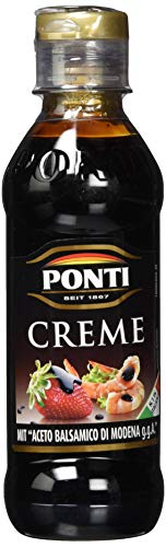 Ponti Creme Aceto Balsamico di Modena g.g.A. 1 x 200 ml – typisch italienische Balsamico Creme – feine Crema di Balsamico – mit süßsaurer Geschmacksnote