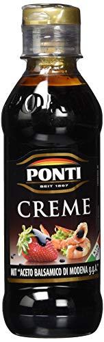 Ponti Creme mit Aceto Balsamico di Modena I.G.P. 1 x 200 ml – typisch italienische Balsamico Creme – mit vollmundiger, süß-säurerlichen Geschmacksnote