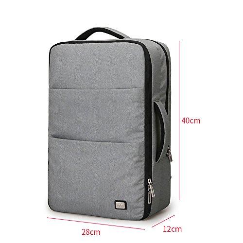 Laptop Rugzak, Outdoor Grote Capaciteit Waterdichte Rugzak Studententas Met USB Opladen Poort 17 Inch Reizen Rugzak (Kleur: Grijs)