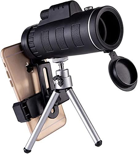 CYGGBF Telescopio monocular para teléfono Inteligente 40X60 4K de Bolsillo de Alta definición Profesional de Mano para Principiantes con Clip para teléfono móvil