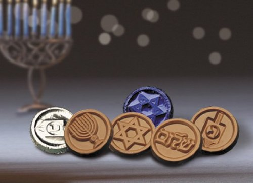Hanukkah Chocolate Gelt Coins - 250 Piece Assorted Bulk Pack - Foil Wrapped Kosher Belgian Chocolate