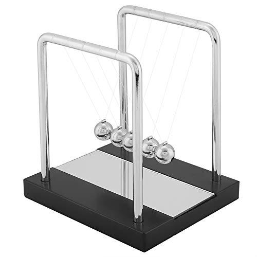 Balles d'équilibre jouet avec miroir berceau de Newton Balles d'équilibre en bois Jouets en mouvement pour enfants adultes Physique Science Pendule Ornement