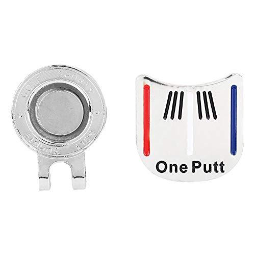 Alomejor Golfball-Marker Golf Hat Clip Zubehör für Golf-Liebhaber(2#)