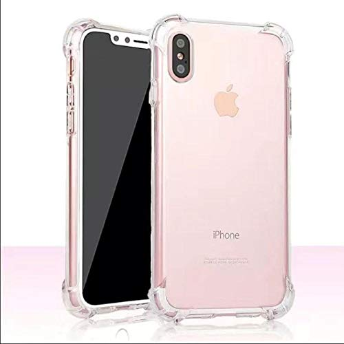 Phone case Suitable for iPhone/11/pro/mobile Phone case Transparent Protective case Four-Corner airbag Anti-Drop Mobile Phone case-Four-Corner Shatter-Resistant case_iPhoneX/XS