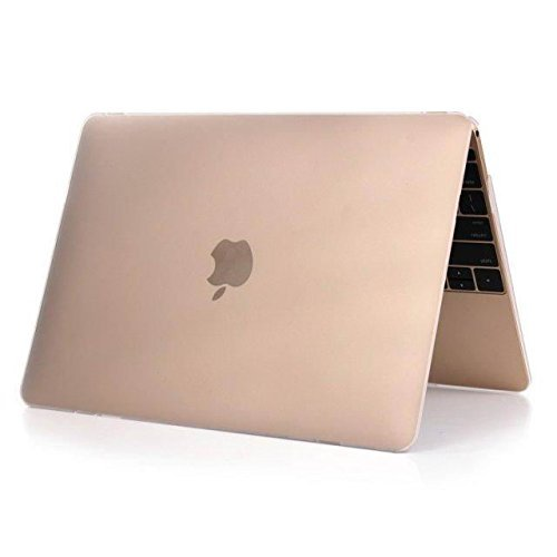 IDEAPRO 12 Inch Colored Rubberized Coated See Through Frosted Hardshell Case Cover for Apple Macbook 12 Inch Retina Display A1534 (transparent)