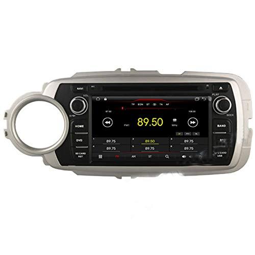 Autosion Android 10 Cortex A9 1.6 G Lecteur DVD de Voiture GPS Radio Head Unit Navi stéréo multimédia WiFi pour Toyota Yaris 2012 2013 2014 2015 Support Commande au Volant