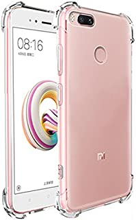 Tarkan Shock Proof Protective Soft Transparent Back Case Cover [Bumper Corners with Air Cushion Technology] for Xiaomi Mi A1(Transparent)