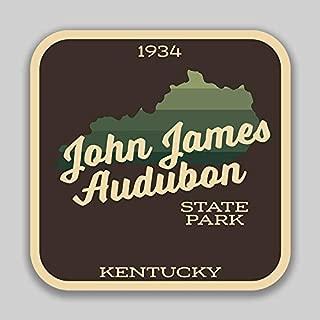 JMM Industries John James Audubon State Park Kentucky Vinyl Decal Sticker Car Window Bumper 4-Inches 4-Inches Premium Quality UV Protective Laminate SPS01110