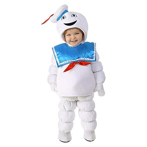 Cute Ghost Soft Kids Toddler Stay Puft Marshmallow Man Nio Disfraz de Halloween