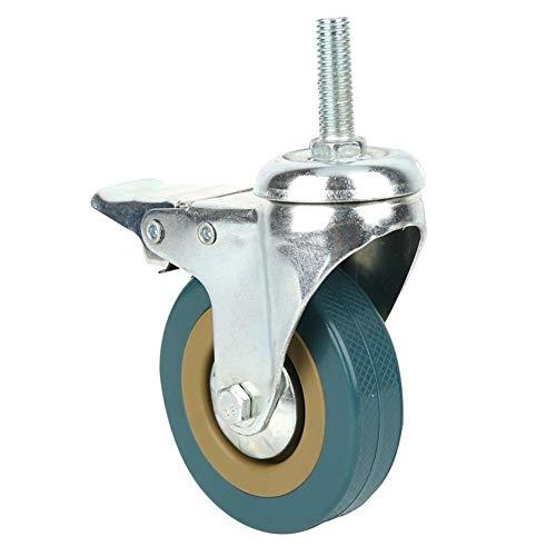 SHENYUAN Serie Industrial 4Pcs / Set 3 Pulgadas Universal giratoria ruedecillas de Muebles de cojinete Caster Ruedas for Maletas Carro con Ruedas de Muebles de Freno