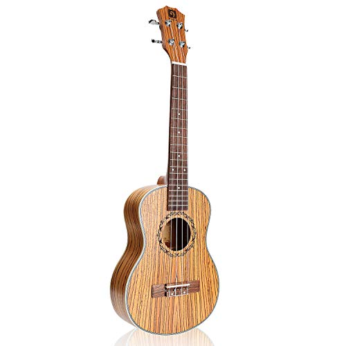 Vangoa 26 Inches Tenor Acoustic Ukulele in Zebrawood for Beginner