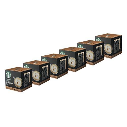 Nescafé Dolce Gusto Starbucks Latte Macchiato 6er Set, Kaffee, Milchkaffee, Kaffeekapseln, 6 x 12 Kapseln