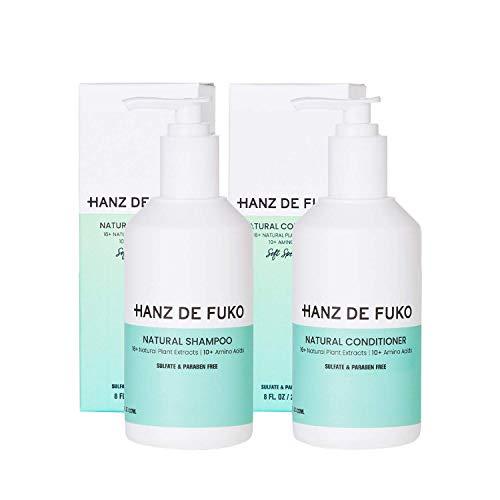 Hanz De Fuko Hair Care Products Bundle, Premium Men's Natural Shampoo & Natural Conditioner, Sulfate & Paraben Free - 8 Ounces