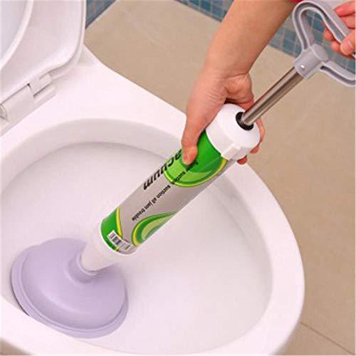 vogueyouth Entleerungskolben - Entleerungsblockierer für die Luftpumpe - Kraftvoller Saug-WC-Verstopfungsentferner mit austauschbarem Gummikopf für WC-Badewannenwaschbecken