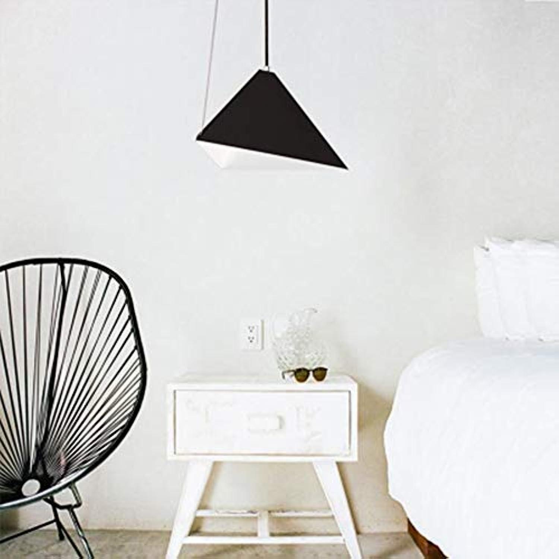 RJJ Geometrische Pendelleuchte Retro Vintage Schwarz für Zeitgenssisches für Wohn-   Esszimmer Schlafzimmer Warm