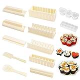 OMEW - Kit de 10 moldes para Sushi Maker para sushi, cocina o bricolaje, fácil para sushi, juego de arroz, DIY y cocina