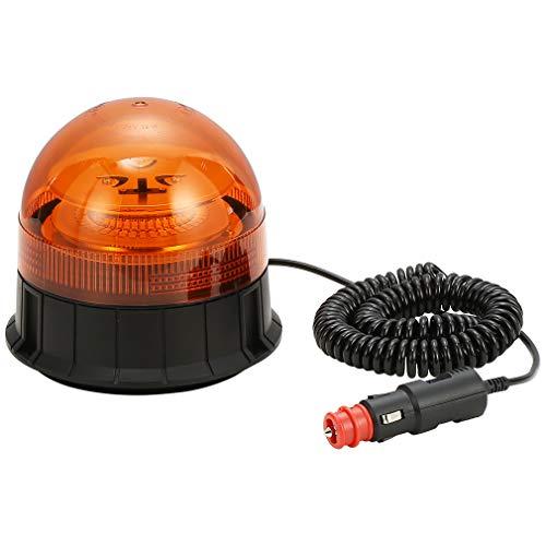 D-TECH LED 12 24V luce lampeggiante Luce LED Stroboscopica d emergenza con magnete per camion Rimorchio Trattore Veicolo Auto SUV