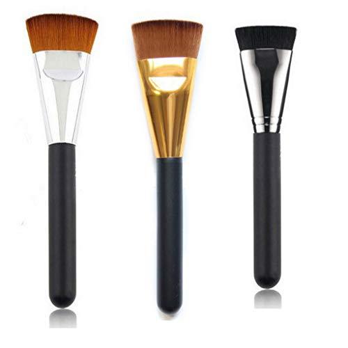 Ensemble de pinceaux de fondation noirs et plats, pinceaux de maquillage multifonctions, fard à joues, poudre pour le visage, fond de teint liquide, pinceau de maquillage pour le contour du visage