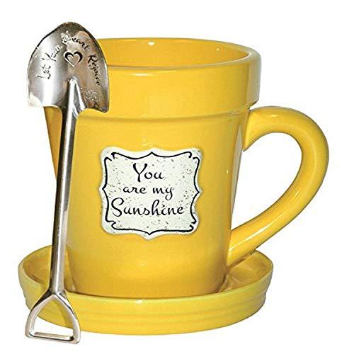 Divinity Boutique 24659 Flower Pot Yellow Sunshine, Multicolor