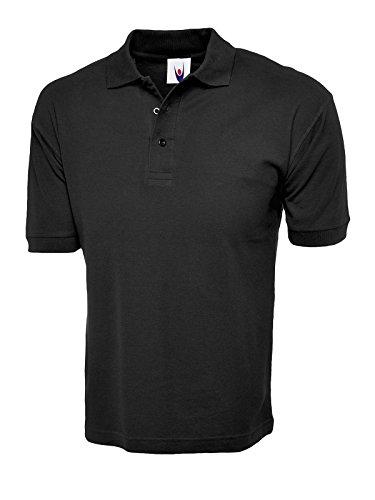 100% Coton Majoritaire Chemise Polo Manche Courte Sport Vêtements De Travail Loisir Uniforme - Noir, XS