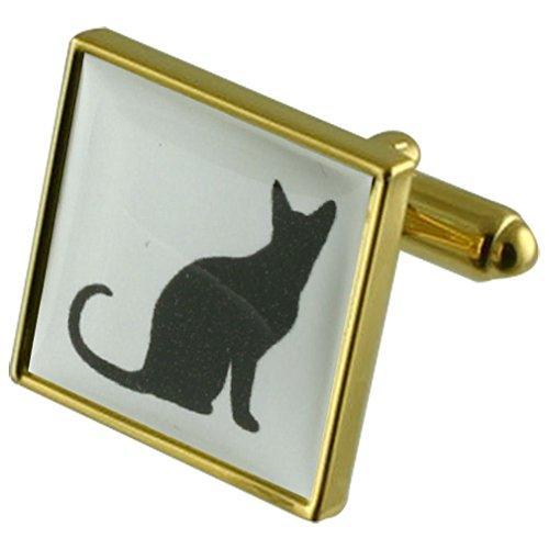 Select Gifts Chance Black Cat Manchette avec gravé souvenir