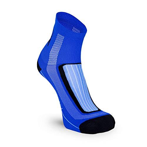 Nordhorn Quarter Pro Sportsocken für Herren und Damen, Sneaker Socken Atmungsaktiv zum Laufen, Joggen, Fitness, Radfahren und Crossfit (Blau, 43-45)