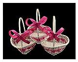 Les célébrations - 3 cestas de Corazones para Damas de Honor, pétalos de...