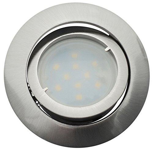 Spot Led Encastrable Complete Satin Orientable lumière Blanc Neutre eq. 50W