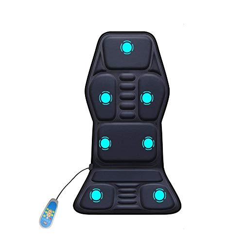 ZOUHANGDIAN Memory Foam Massage Mat with Heat, 9 Vibration Massage Nodes & 2 Heating Pad,Full Body Massager Cushion Relieve Neck, Back, Waist, Legs,for Home Office Chair