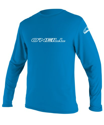 O'Neill Youth Basic Skins UPF 50+ Long Sleeve Sun Shirt, Bright Blue, 8