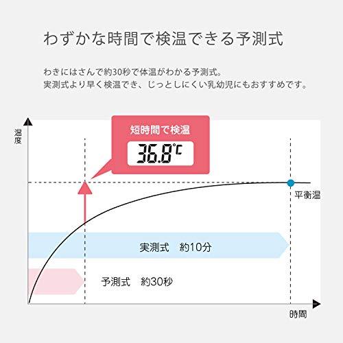 『dretec(ドリテック) 抗菌 先が曲がるやわらかタッチ体温計 電子体温計 予測式30秒 デジタル (ピンク)』のトップ画像