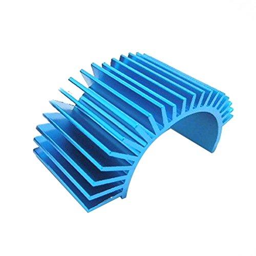 Dissipatore di calore di alluminio Pixnor 540 550 motore dissipatore di calore per HSP Tamiya auto camion blu