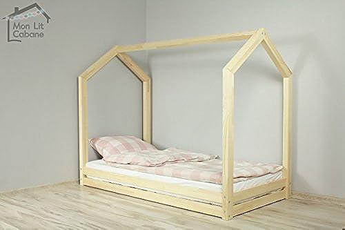 Monlitcabane Bett Hütte W 90 190 Lattenrost