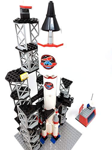 Estación espacial de bloques de construcción, nave espacial con centro de control, 42 cm