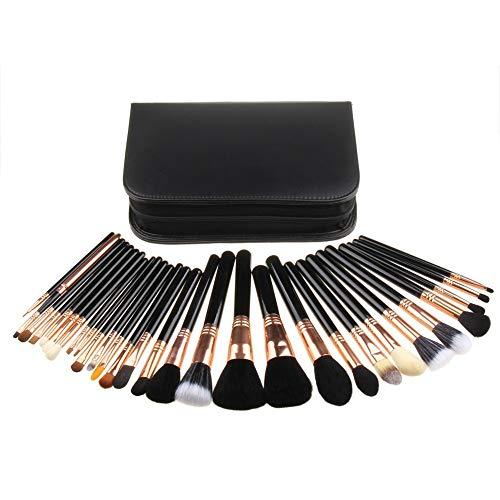 MEIYY Pinceau De Maquillage 29Pcs Maquillage Professionnel Pinceaux Set Made Powder Foundation Brush Kit Fard À Paupières Applicateur