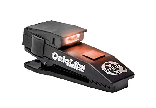 QuiqLitePro Hands Free Pocket Concealable Flashlight/White/Red LED's, 10 Lumens