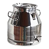 Stainless Steel Milk Transport Cans with Strong, Sealed Lid and Optional Spigot (5 Gallon, with Spigot))