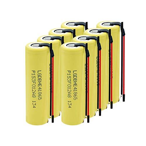 WSXYD Batería Li-Ion De 3.7v 18650 2500mah, Alto Drenaje 35a De La Batería De Litio Recargable Aspictureshows