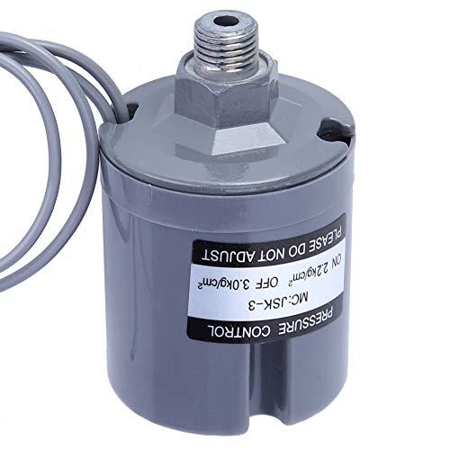 Interruptor de presión de agua, contra el sentido de las agujas del reloj, con cubierta de plástico.