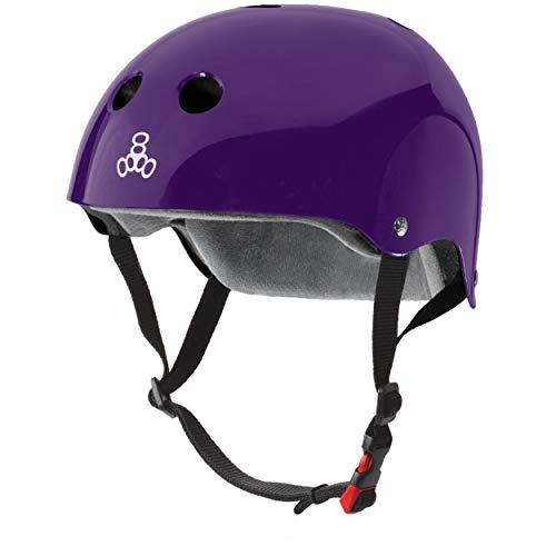 Buy Bargain Triple Eight The Certified Sweatsaver Helmet for Skateboarding, BMX, and Roller Skating, Purple Glossy, Small/Medium (3625)