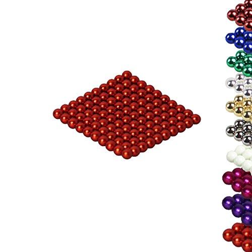 'Ballon de plusieurs couleurs: 100boules 5mm magnétique 'Mag aimant néodyme Super instudrie magnétique: néodyme NdFeB 38 Orange